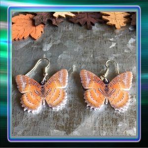 Jewelry - Orange Butterfly Acrylic Earrings